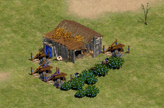 quick wall example in age of empires 2