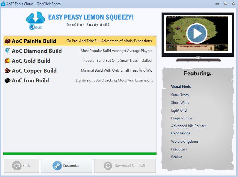 AoE2Toolscloud Choose your Build