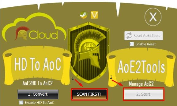 Run Scan with AoE2Tools