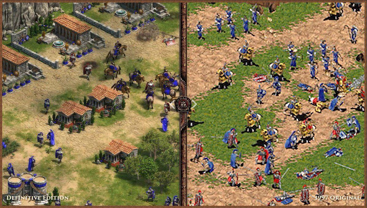 Age of Empires Definitive Edition Comparison to Original version