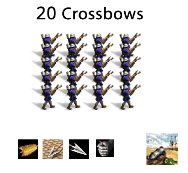 20+ crossbows all in play