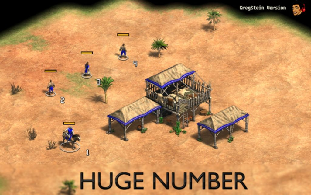 Huge Number for age of empires 2 definitive edition