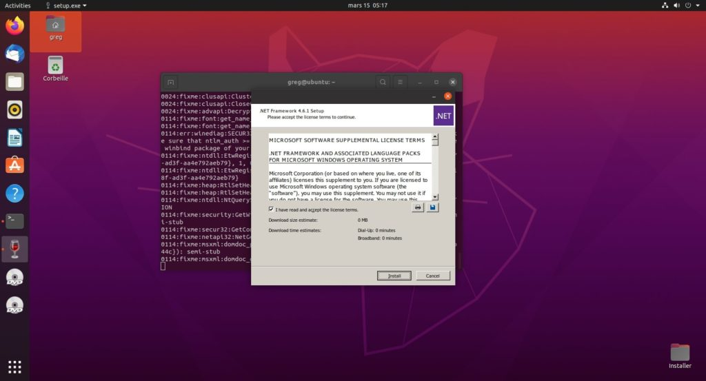 15. .Net 4.6.1 - Accept license and install