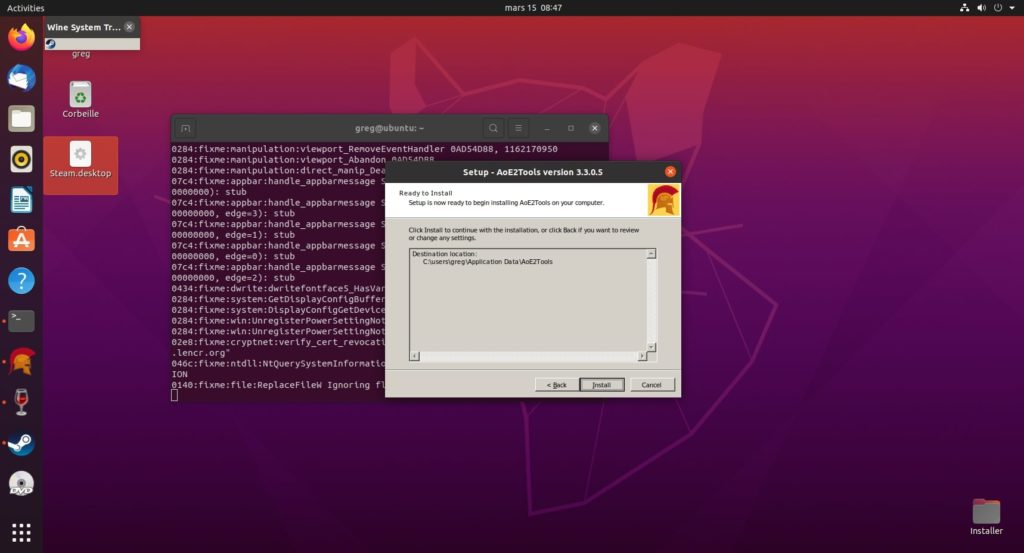 27. Confirm Installation of AoE2Tools